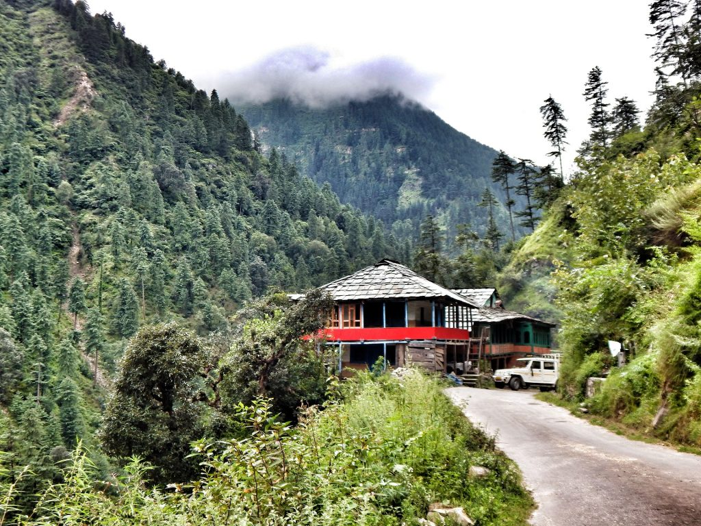 View of the Tirthan valley