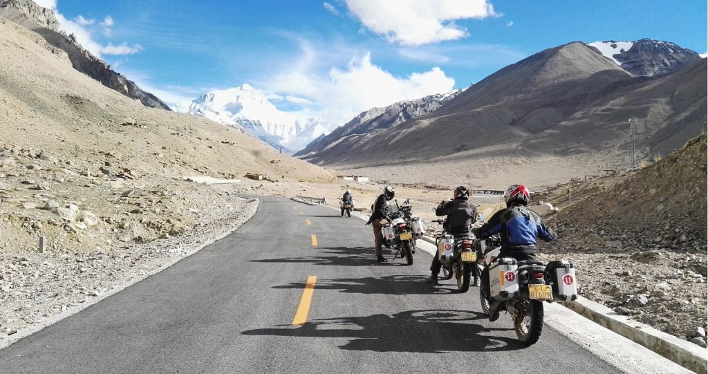 Upper mustang motorcycle tour