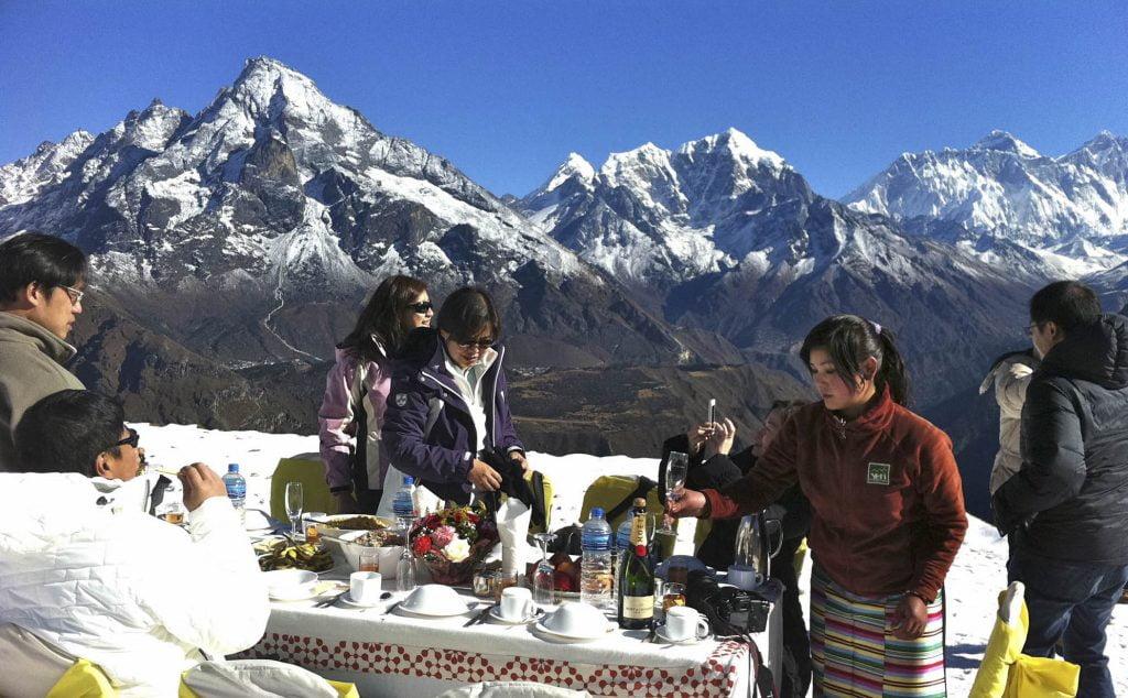 Breakfast on Everest